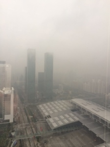 Shenzhen yesterday, the view from my window at mid-day yesterday at 172 AQI